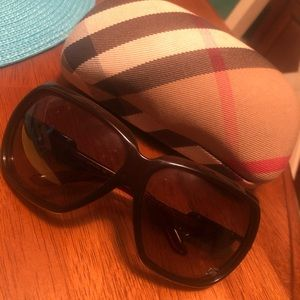 Burberry Authentic Brown Sunglasses with Case